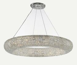 Crystal Halo Chandelier Modern Contemporary Lighting Floating Orb 52? Wide $2021.24