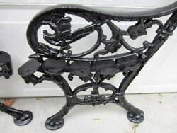 VINTAGE CHARLESTON STYLE HEAVY CAST IRON BENCH ENDS-ORNATE CASTINGS-BIRD-