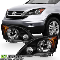 Blk For 2007 2008 2009 2010 2011 Honda CR-V CRV Headlights Headlamps Left+Right $142.99