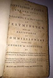 Extremely Rare Book The Confession Of Faith 1690 & Larger& Shorter Catechism1648