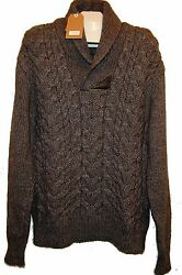 Yoon Gray Knitted Men's V-Neck Wool Warm Sweater Italy Size US 48 EU 58 NEW