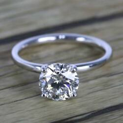 1.50 ct Diamond 14k White Gold Comfortable Fit Solitaire Enagement Ring