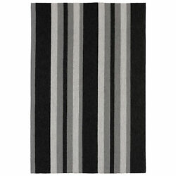 Liora Manne Portsmouth Nautical Stripe IndoorOutdoor Rug Grey 7'6
