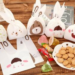 50pcs Cute Party Bag Wedding Favors Birthday Gift Bag Candy Cookies GBP 5.00