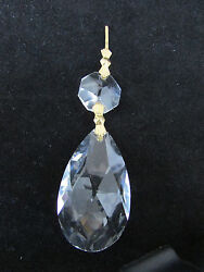 12 AAA 30 % LEAD CRYSTALS PRISM CHANDELIER PARTS 2 quot; TEAR DROP BRASS $15.90