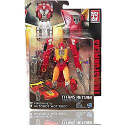 Transformers Titans Return Autobot Hot Rod & Firedrive Deluxe Class Hasbro JC $19.99