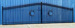Custom Driveway Gate 22#x27; FT Commercial Inc Post Home Improvement Yard Security