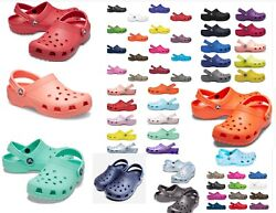25 + colors CROCS Original CLASSIC Clogs Shoes sandals sizes  4 -17 vegan