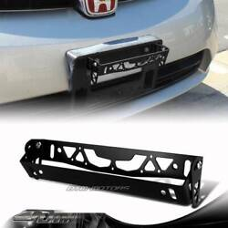 JDM Black Brushed Alum. Front Adjustable Tilt License Plate Bracket Universal B