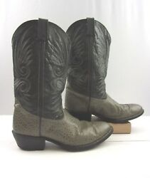 Men's Double H Gray Exotic Leather Cowboy Western Boots Size: 9.5 D