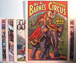 1960 Circus World Museum Poster Set Old Store Stock $24.00