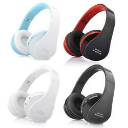 Wireless Foldable Headset Stereo Headphone Hands-free for iPhone PC $10.99