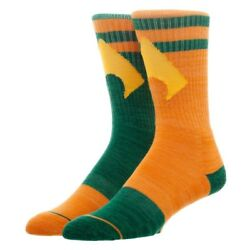 Aquaman Flipped Colors DC Comics Adult Athletic Crew Mens Socks Nwt $9.99