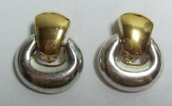 Vintage Two Toned Hoop GIVENCHY Earrings $27.00
