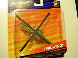 Adventure Force Tailwinds AH 64 Apache Helicopter. Airplane Model Green NEW $12.95