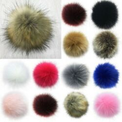 Chic 12CM DIY Cute Faux Rabbit Fur Pom Pom Ball Pompoms Knitting Hat Accessories