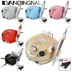 30000RPM Pro Electric Nail Art Drill File Machine Manicure Pedicure Tool Kit Set