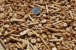 1 2 Pound Drilled Buffalo Bone Antique In Color Beads Buttons Hair Pipe Disc $8.95