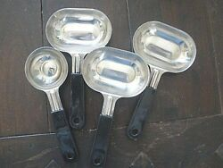 Portion Control Serving Food Spoons Set of 4 (13 and 18 cup) New