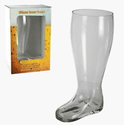 NOVELTY EXTRA LARGE BEER BOOT SHAPED DRINKING GAME GLASS NEW AND GIFT BOXED GBP 24.95