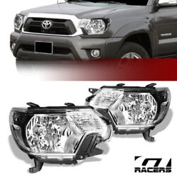 For 2012-2015 Toyota Tacoma Oe Style Chrome Housing Headlights Signal Lamps Nb