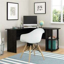 FCH Office L Shaped Computer Desk Corner Workstation Laptop Table Shelves Black $93.99