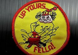 New Vintage Embroidered quot;Up Yours Fellaquot; Motorcycle Patch NOS 1970#x27;s $6.00
