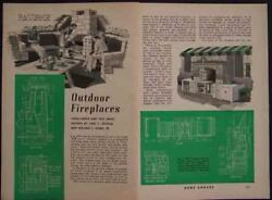 5 OUTDOOR FIREPLACE BBQ GRILL 1941 HowTo Design PLANS