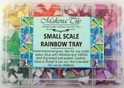 Sale!! 750+  PIECE RAINBOW TRAY OF SMALL SCALE MOSAIC GLASS by Makena Tile