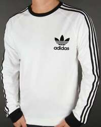 Adidas Men#x27;s Long Sleeve Trefoil Logo Graphic T Shirt $24.99