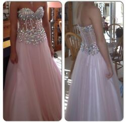 Formal Pink Prom Party Pageant Ball Dresses Bridal Gowns. Size 2