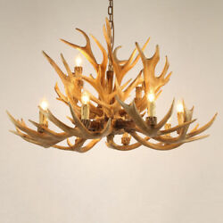 Rustic Resin Antler Whitetail Branch 12 Candle Light Large Chandelier Lighting