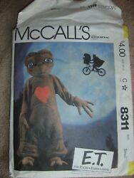 McCalls E.T. The Extra Terrestrial Uncut Sewing Pattern 8311 Small 6 8 Costume