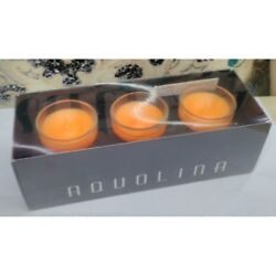 Aquolina scented candles q.ty 3x 35gr. fragrance Fruit Exotic RARE