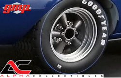 GMP 18834 1:18 SET OF 4 TRANS AM 5 SPOKE RACING WHEEL & TIRES  RIMS