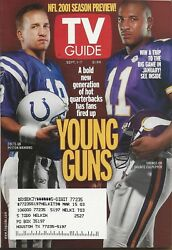 TV GUIDE~SEPT 1 2001~NFL PREVIEW~PEYTON MANNINGCULPEPPER~COMPLETE MAGAZINE