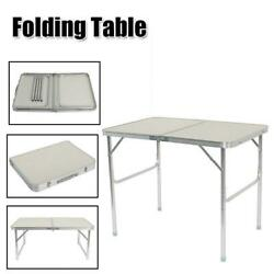 3FT Partable Aluminum Folding Table Picnic Garden Camping Indoor Outdoor Desk $30.90