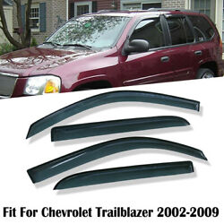 Smoke Window Visor Fit Chevy TrailBlazer 2002 2003 2004 2005 2006 2007 2008 2009