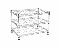 Seville Classics 12-Bottle Stackable Wine Rack 11.5-inch by 17.5-inch by 12-...