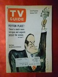 Chicago January 16 TV GUIDE 1965 Bob Hope Peyton Place Julie Newmar LIVING DOLL
