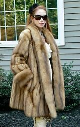 CHRISTIAN DIOR GOLDEN RUSSIAN SABLE FUR SWING COAT STROLLER 10-14  $85K FLAWLESS