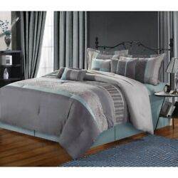 Euphoria 12 Piece Comforter Set Size: King Color: Blue
