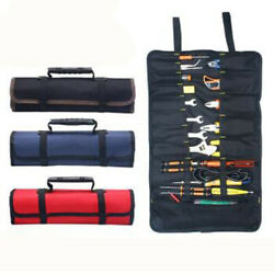 Multifunction Tool Bags Practical Carrying Handles Oxford Canvas Roll Bag-Red $15.19