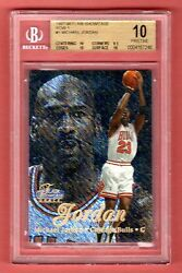 MICHAEL JORDAN 1997-98 FLAIR SHOWCASE ROW 1 SP BGS 10 PRISTINE POP 1  BULLS