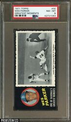 1971 Topps Greatest Moments #30 Wes Parker Dodgers PSA 8