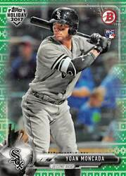 YOAN MONCADA 2017 Bowman Topps Holiday Ugly Sweater Green #1799 #YM (D3985) $7.95