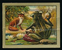 1910 T57 Turkish Trophies FABLE SERIES (51-100) -The Quack Frog