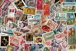 Lot A 100 Different Worldwide Stamp Collection About 50% Commemoratives $1.60