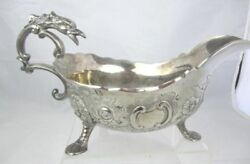 Silverplated Vintage Corbell and Co Gravy Boat C & Co.Tureen 3 Footed Gothic