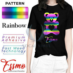 Essmo™ Rainbow Pattern Heat Transfer Vinyl HTV T-Shirt 20